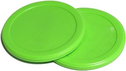 "Set of 4 Air Hockey Pucks Green Round Pucks 2-1//2/"" Diameter-Table Hockey Pucks"