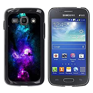 Design for Girls Plastic Cover Case FOR Samsung Galaxy Ace 3 NEON PURPLE BLUE GALAXY OBBA