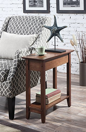 Dark Walnut Accent (Convenience Concepts American Heritage Flip Top End Table, Dark Walnut)