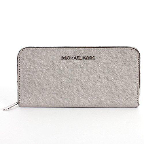MICHAEL Michael Kors Jet Set Travel Zip Around Continental Saffiano Leather Wallet