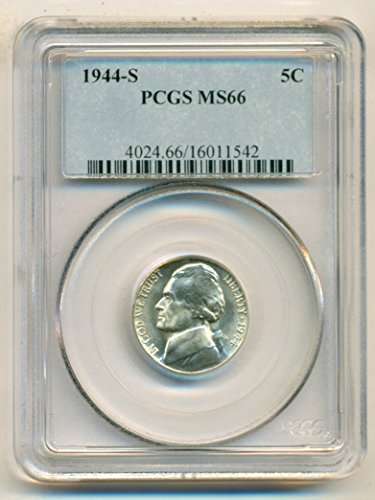 1944 S Jefferson Silver Nickel MS66 PCGS