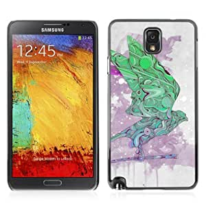 Designer Depo Hard Protection Case for Samsung Galaxy Note 3 N9000 / Cool Abstract Pattern Bird