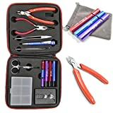 Homeowner's Tool Sets Coil Jig Kits DIY Tool Kit, ohm Meter, Diagonal Pliers, Scissors, Screwdriver, Ceramic/elbow Tweezer, Kanthel Wire, Case