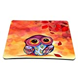 Elonbo 8.6 x 7 inches / 220 x 180 mm Cute Owl Design Waterproof Neoprene Soft Mouse Pad