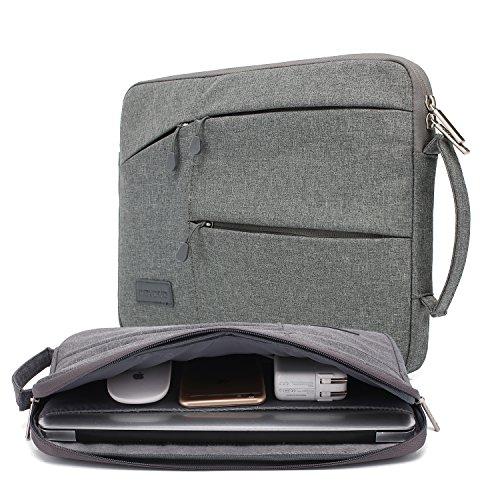 kayond Nylon Fabric 13.3 Inch Laptop Sleeve-Gray