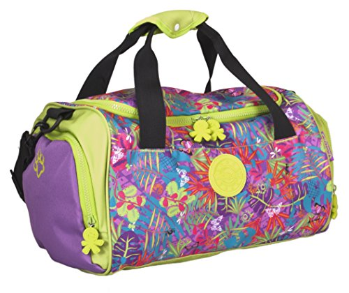 okiedog wildpack GRAFFITI 85022 bolsa para deporte con compartimento para zapatos JEANS, azul ORQUÍDEA fucsia