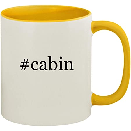 Review #cabin - 11oz Ceramic Colored Inside and Handle Coffee Mug Cup, Yellow