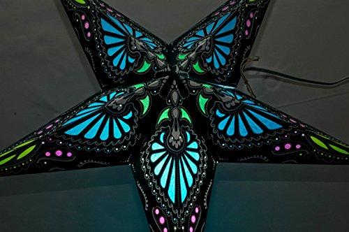 Hummingbird Paper Star Lantern (Turquoise) by UMTA (Star Lanterns Paper)