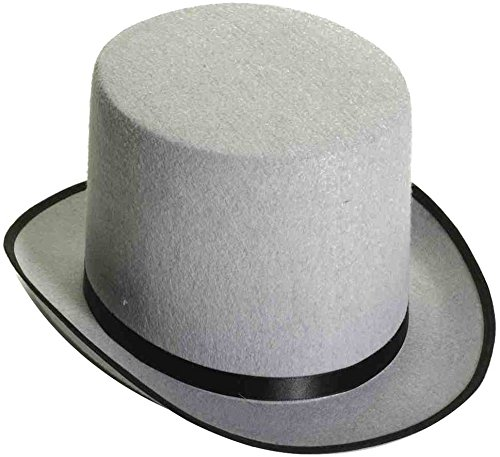 Forum Novelties Men's Novelty Adult Stovepipe Hat, Gray, One Size