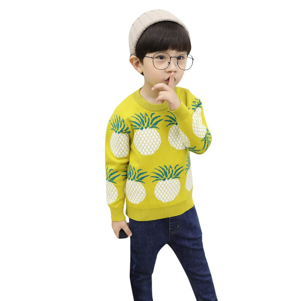Londony▼ Clearance Sales,Baby Boys' Christmas Xmas Pineapple Print Knitted Sweater Pullover Cute Sweatshirt