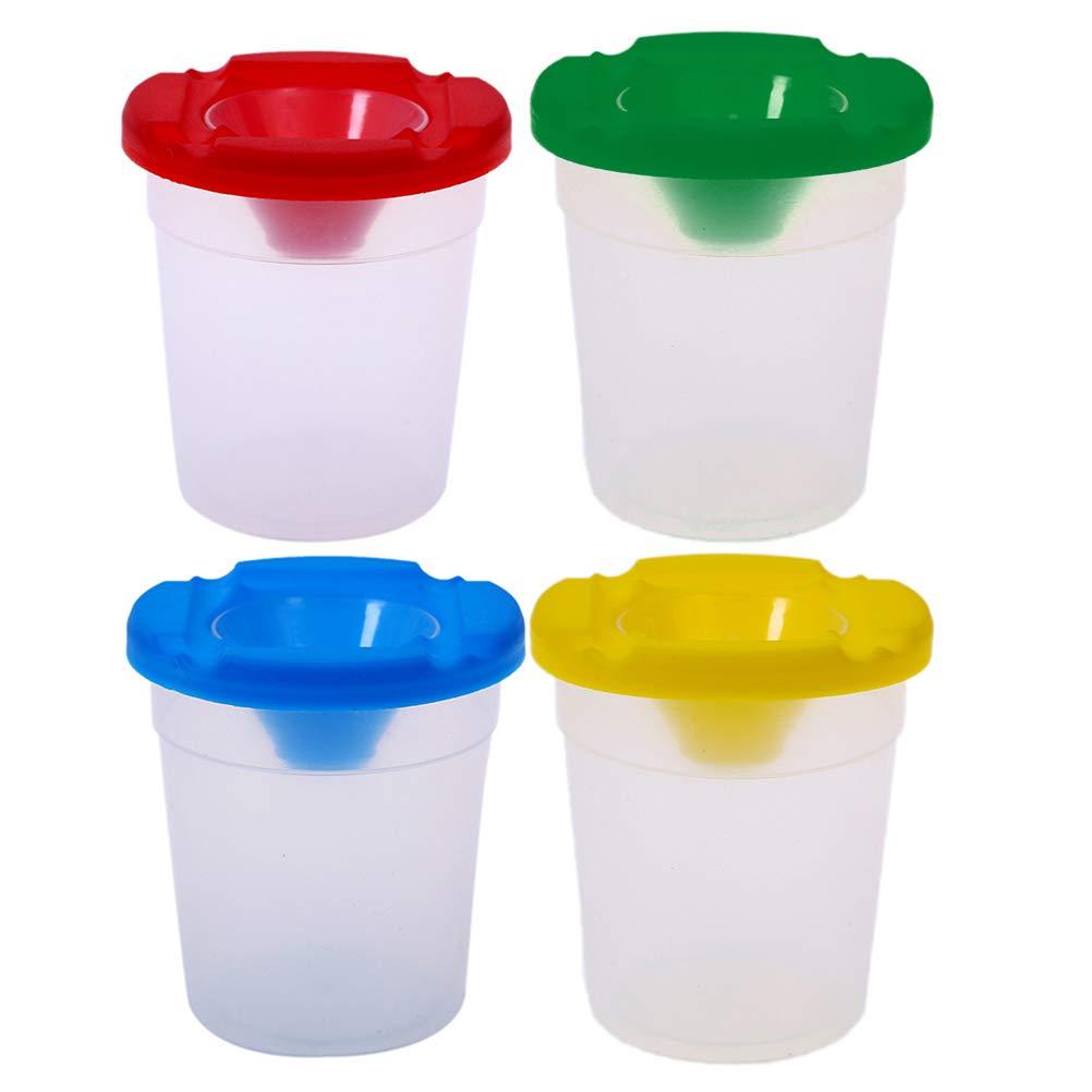 Artibetter 10pcs auslaufsichere Farbbecher mit farbigen Deckeln p/ädagogische Malutensilien f/ür Kinder und Kleinkinder