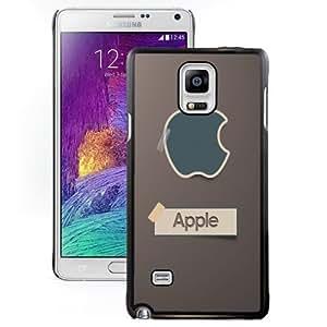 New Personalized Custom Designed For Samsung Galaxy Note 4 N910A N910T N910P N910V N910R4 Phone Case For Apple Logo Sticker Phone Case Cover
