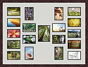 Art to Frames Double-Multimat-516-756/89-FRBW26061 37.5 by 28-Inch Picture Frame, 1.25-Inch Wide, Espresso