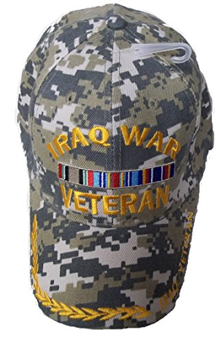 Iraq War Veteran Camo Style Embroidered Baseball Cap Ball...