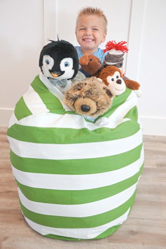stuffed animal kid bean bag chair storage for your child 39 s stuffed animals and blankets blue. Black Bedroom Furniture Sets. Home Design Ideas
