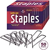 """50 Landscape Fabric Staples 11 Gauge Steel used as Garden Staples, Sod Staples, Garden Spikes, Fence Anchors, Anchor Pins, Loop Stakes- Professional Grade - Full 6"""" Length, - MONEY-BACK GUARANTEE!"""