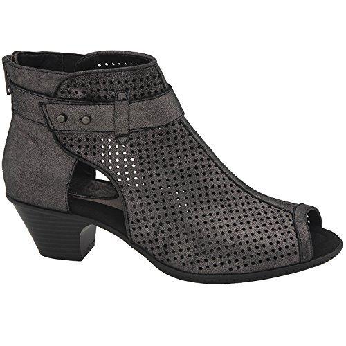 Distress Leather Footwear - Earth Women's Intrepid Pewter Distress Leather 8.5 B US