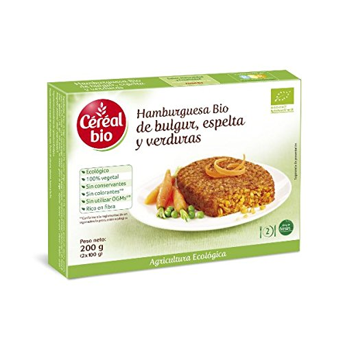 Hamburguesa Vegetal Bio De Bulgur Y Espelta Con Verduras Cereal Bio 200 G: Amazon.es: Alimentación y bebidas
