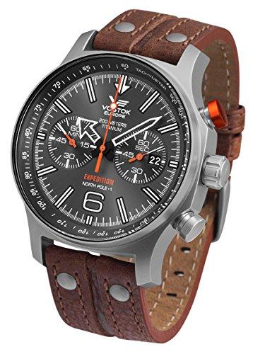 Vostok-Europe 6S21/595H298 Expedition North Pole 1 Titanium Watch