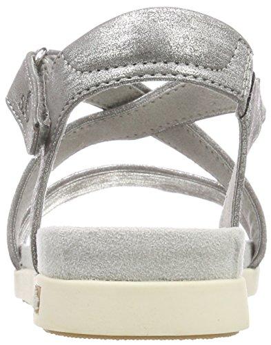 s.Oliver Women's 28208 T-Bar Sandals Silver (Silver Comb) E6H6EBV3MN