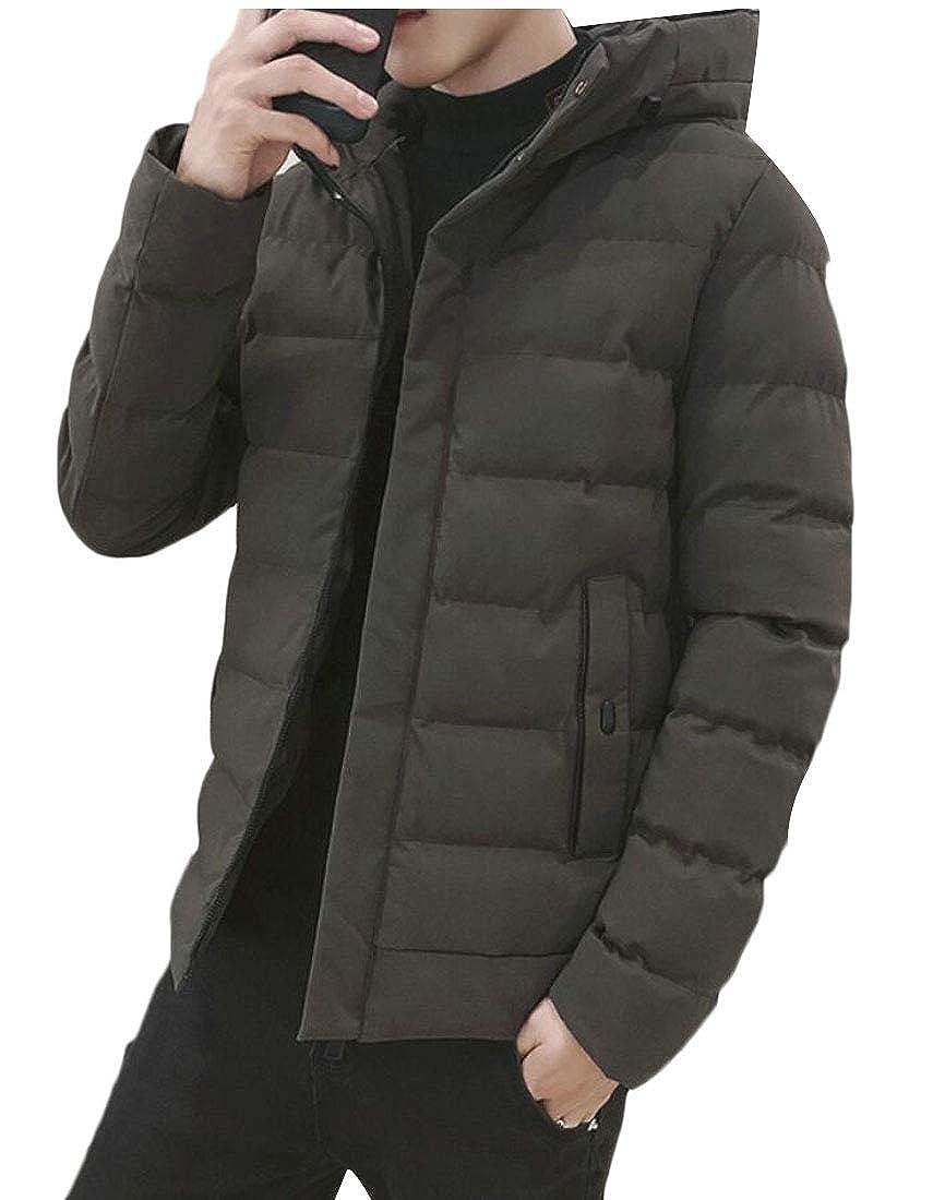M/&S/&W Mens Quilted Outdoor Hooded Zipeer Warm Thicken Jacket Coat