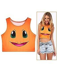 Summer Sleeveless Vest, Slim Ultra-Short Vest, Stretch Sleeveless Vest Girls (One Size)