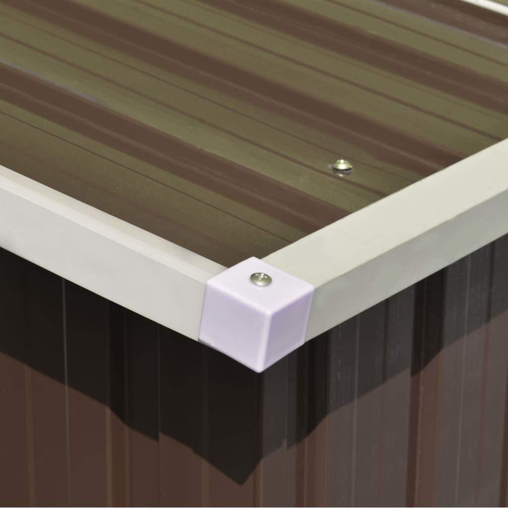 Festnight Caseta de Jard/ín de Metal para Almacenamiento de Herramientas con 4 Ventilaciones Gris 257x298x178 cm
