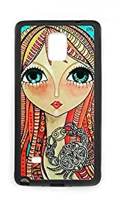 Diy A beautiful girl Cell Phone For HTC One M7 Case Cover with Artistic