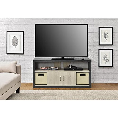 Amazon Com Altra Winlen 55 Inch Tv Stand With 2 Fabric
