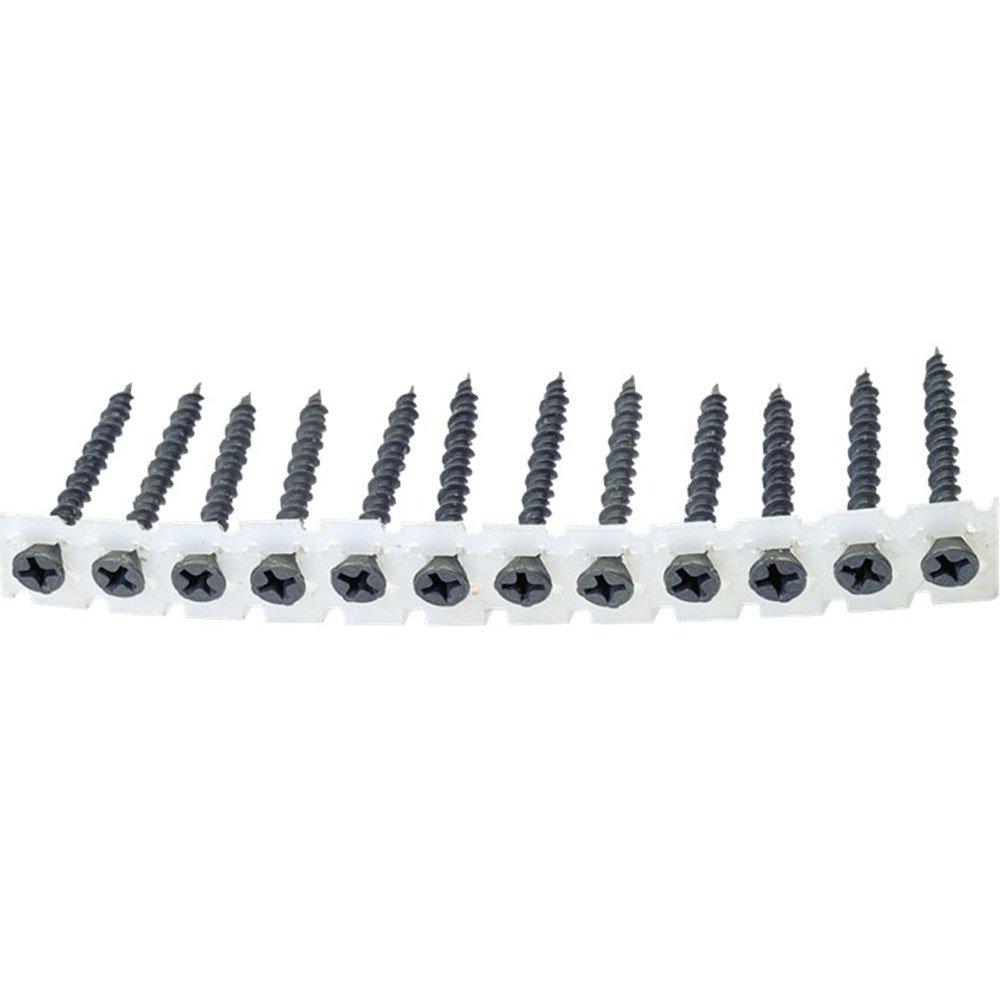 QZ Schnellbauschrauben auf Band hi-lo Gewinde Typ Fermacell 3.9x35 PH 2 Stahl geh/ärtet phosphatiert grau 1000 Stk