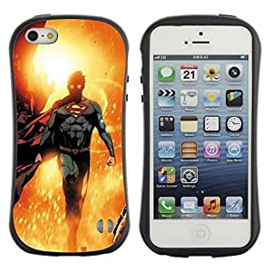LASTONE PHONE CASE / Suave Silicona Caso Carcasa de Caucho Funda para Apple Iphone 5 / 5S / Hero Sun Flying Children'S Character