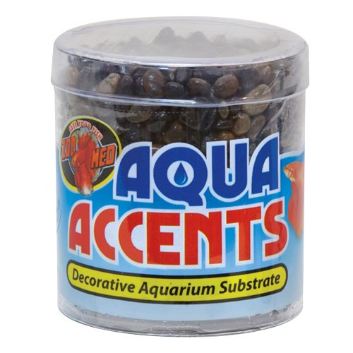 Zoo Med Laboratories Accents - Zoo Med Laboratories AZMBA3 Aqua Accents Midnight Black Sand, 1/2-Pound