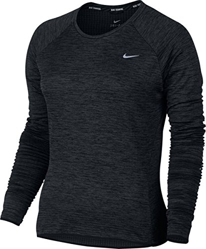 Nike Thermal Sphr Element Top Crew Long Sleeve Sz Xl Running Black/Htr