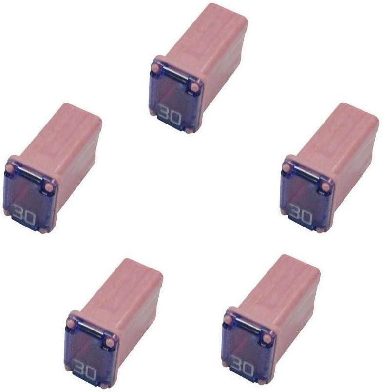 5 Pack 608830 30 Amp Micro Cartridge Fuses - FMM MCASE Type