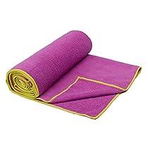 Gaiam Yoga Mat Towel-Orchid/Citron