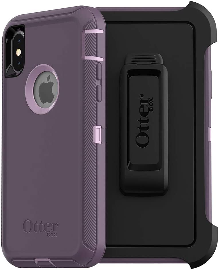 OtterBox DEFENDER SERIES SCREENLESS EDITION Case for iPhone Xs & iPhone X - Retail Packaging - PURPLE NEBULA (WINSOME ORCHID/NIGHT PURPLE)