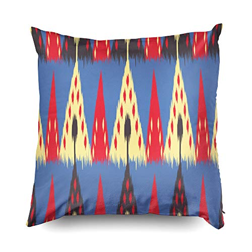 Nap Pillow Case for Couch,Shorping Zippered Pillowcases 18x18 pillow cover Throw Pillow Covers Ikat seamless pattern as cloth curtain textile design wallpaper surface texture background for Home Décor
