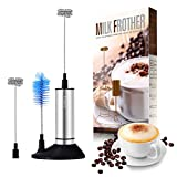 milk frother bottle - Milk Frother, Yosoo Electric Milk Frother, Milk Foamer, Handheld Milk Frother with Pedestal, Clean Brush, Stainless Steel, Perfect for Cappuccinos, Bulletproof Coffee, Latte