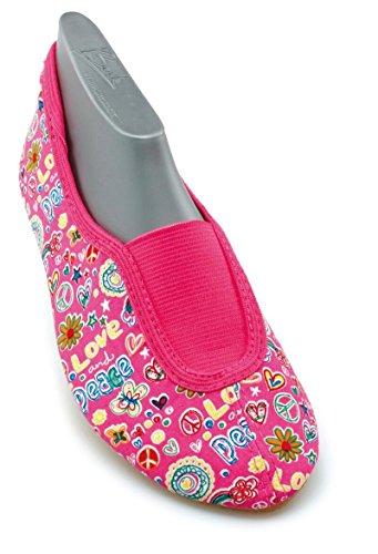 Beck Happy, Rist - Zapatillas de gimnasia de lana niña Pink (pink 06)