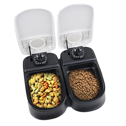 Pawise Automatic Pet Feeder 2 Meal Food Dispenser Timed