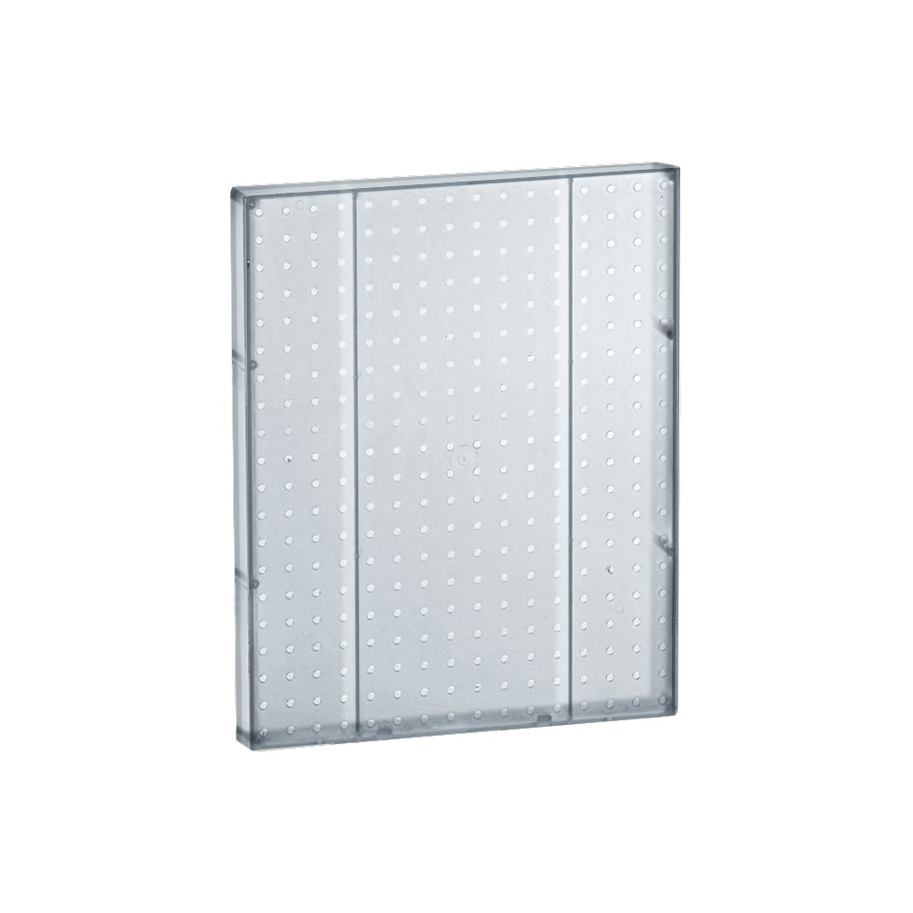 Azar 771620-CLR Pegboard 1-Sided Wall Panel, Clear Translucent Color, 2-Pack
