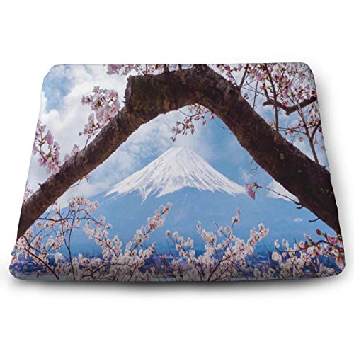 (Ladninag Seat Cushion Japanese Cherry Blossom Chair Cushion Offices Butt Chair Pads for Cars/Outdoors/Indoor/Kitchens/Wheelchairs)