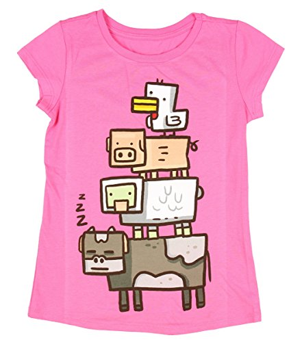 Minecraft Girls Animal Totem Girls Youth T-shirt (Extra Small (4/5)) -