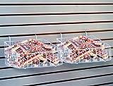 Universal Mount Basket Display Gridwall Slatwall Shelving White Lot of 6 New