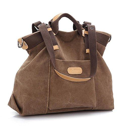 Aoligei Toile seule épaule loisirs femme sac fashion tendance grosse clocharde messenger sac grande capacité C