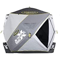 Clam Corporation 14471 Jason Mitchell X5000 Thermal 4-6 Person 4 Sided Outdoor Portable Pop Up Winter Ice Fishing…
