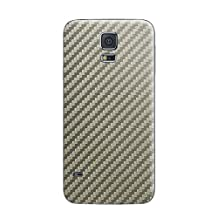 Cruzerlite Carbon Fiber Skin for the Samsung Galaxy S5, Retail Packaging, Titanium (Back Only)