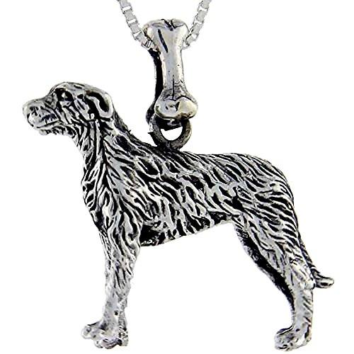 Sterling Silver Irish Wolfhound Pendant