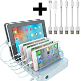 Hercules Tuff Docking Station | Multiple Devices 6 port Charger station | Cables included (mostly Apple Cables)