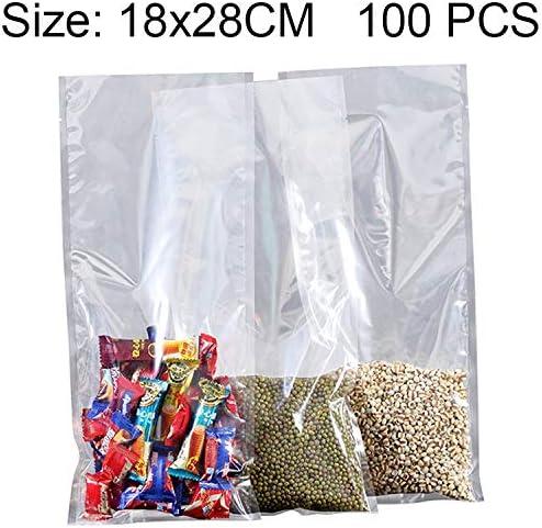 GzPuluz 梱包 包装アクセサリ 100 PCS食品真空包装透明なプラスチック製バッグナイロン製のフレッシュキープバッグ、サイズ:18cm x 28cm